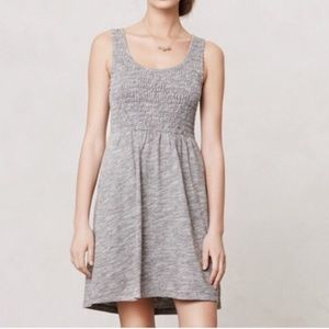 Anthropologie lilka ruched fit and flare dress